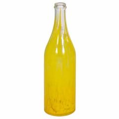 Бутылка стеклокрошка желтая 1 л с пробкой